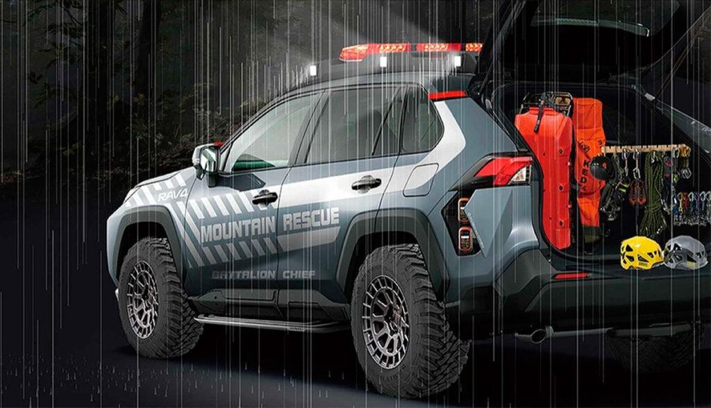 Toyota презентует прототип спасательного внедорожника на базе Toyota RAV4