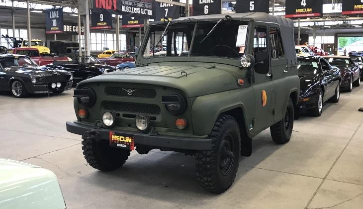 Старый УАЗ-469 был продан на аукционе в США за 1 млн рублей