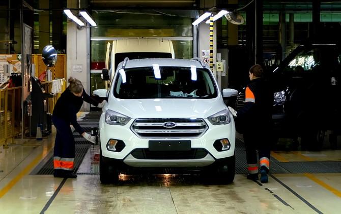 Завод Ford Sollers в России выпустил 75-тысячный кроссовер Ford Kuga