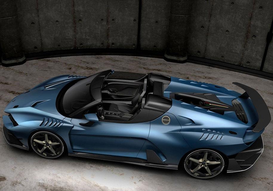 Italdesign представила открытый суперкар Zerouno с двумя крышами
