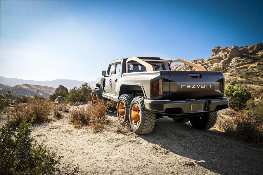Калифорнийская Rezvani раскрыла 1300-сильный пикап Hercules 6x6