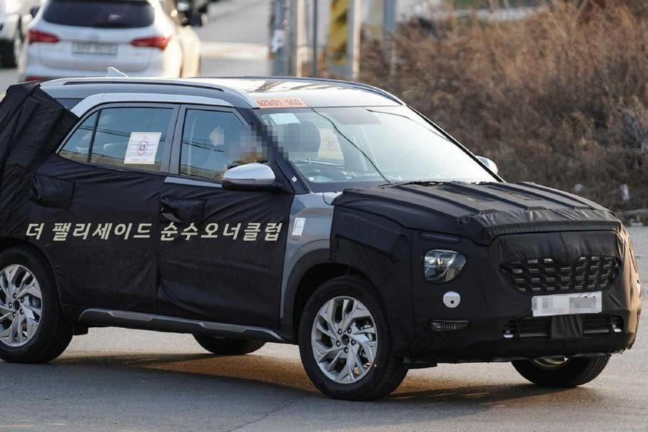 Hyundai тестирует семиместную версию Hyundai Creta