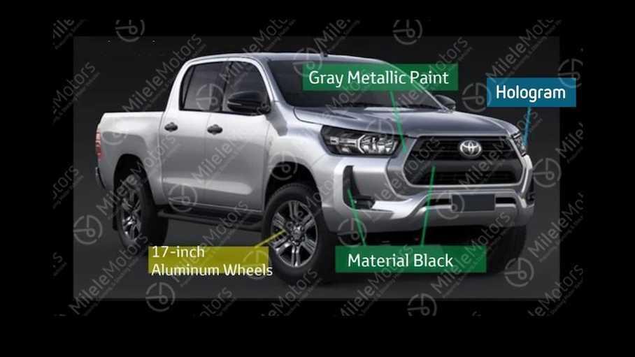 Появились первые изображения рестайлингового Toyota Hilux