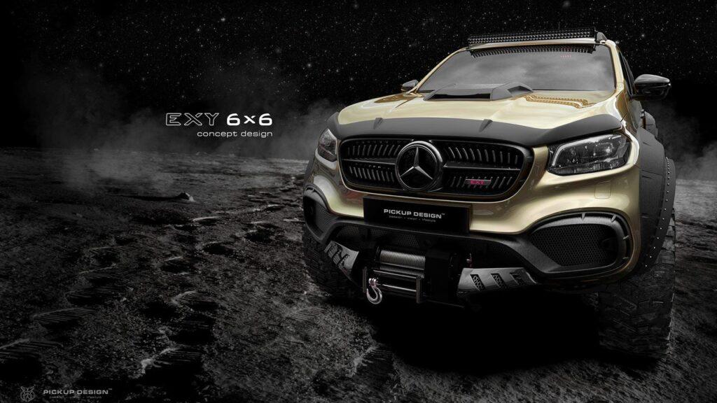 Пикап Mercedes-Benz  X-Class получит три оси