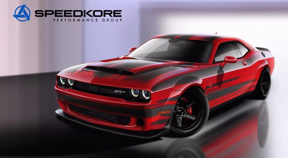 На SEMA едет Dodge Demon в карбоновом исполнении