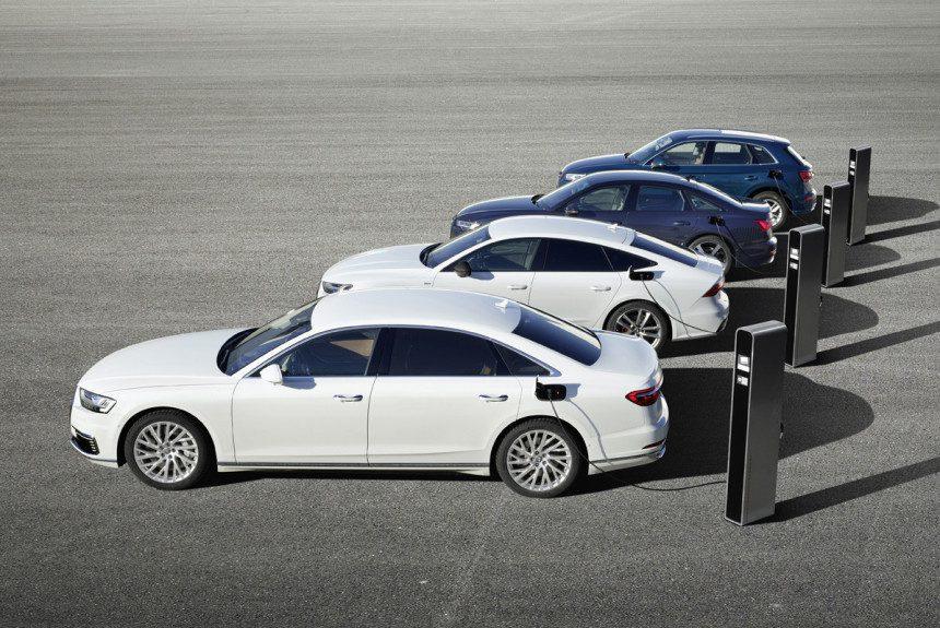 Audi представила гибридные модели Audi A8, A7 Sportback, A6 и Q5