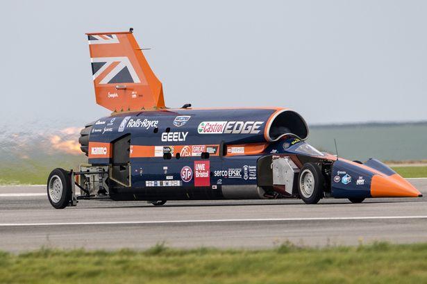 Болид Bloodhound Supersonic Car в 2020 году разгонят до 800 км в час