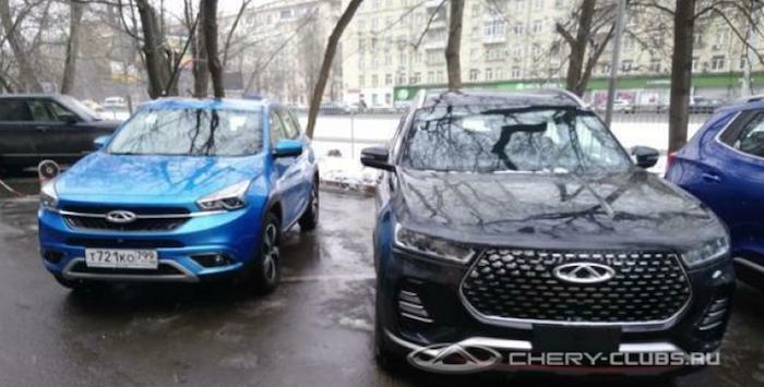 Новый кроссовер Chery был замечен в Москве