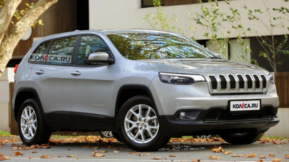 Новый кроссовер Jeep Cherokee в 2018 году получит гибридный мотор