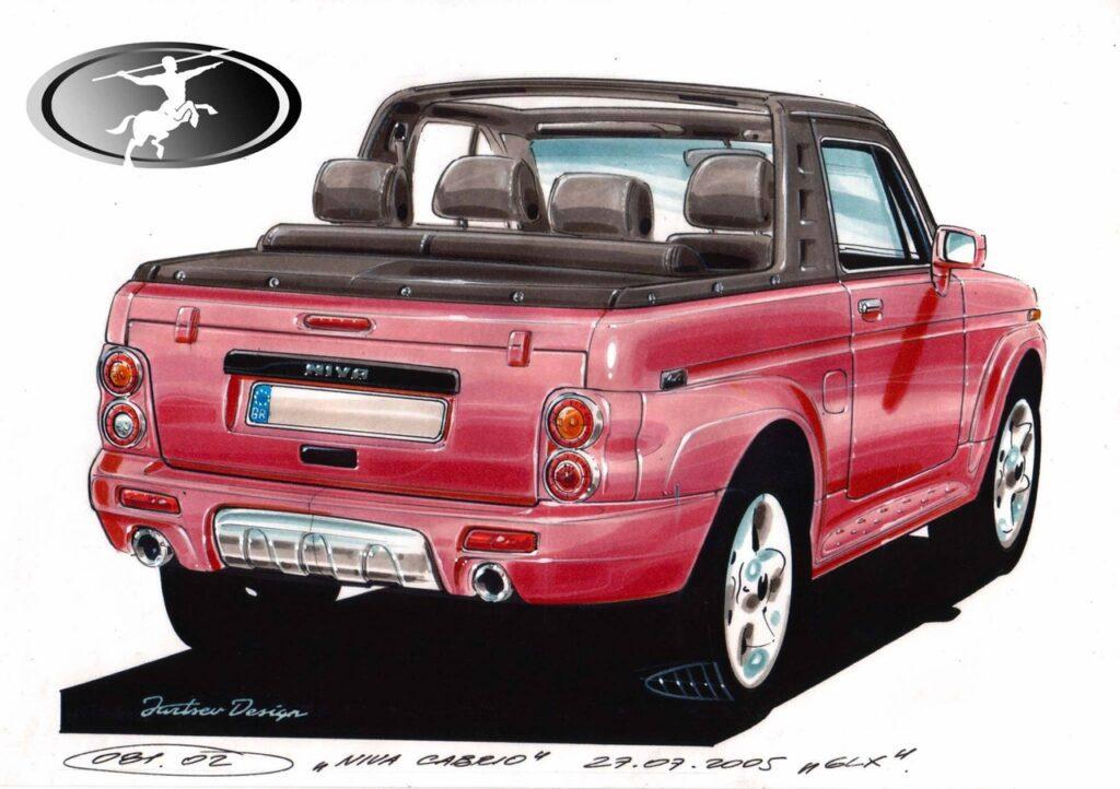 Появились уникальные эскизы Lada 4x4 для Европы