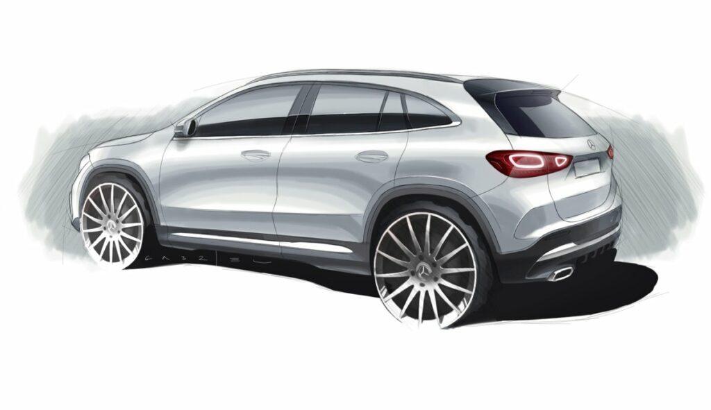 Mercedes-Benz продолжат раскрывать новый кроссовер GLA