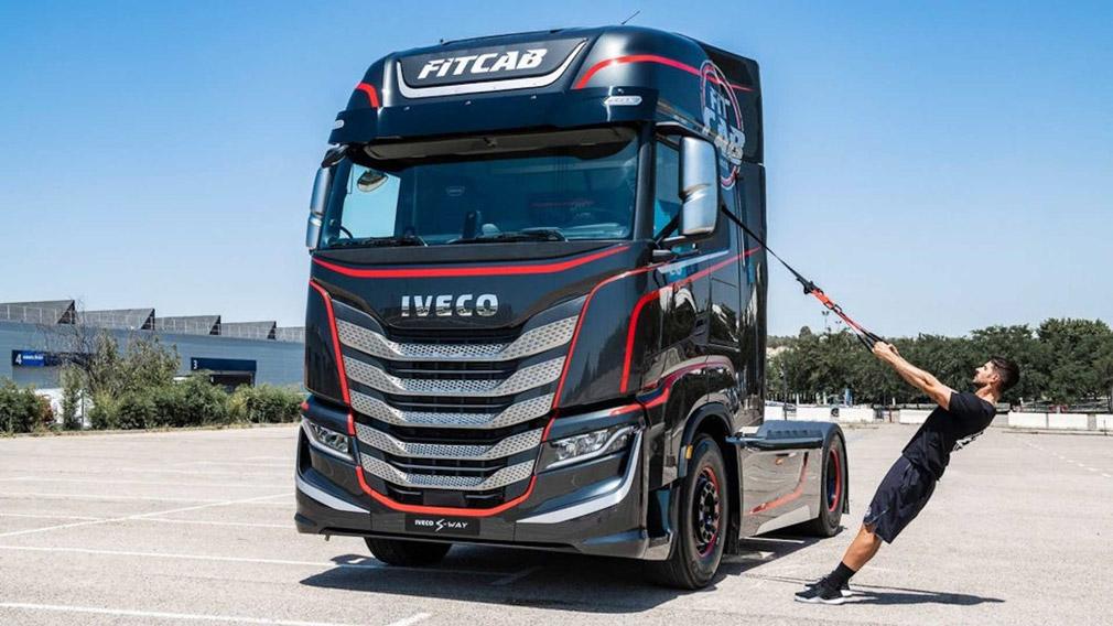 Iveco разработала грузовик с тренажёрным залом в кабине