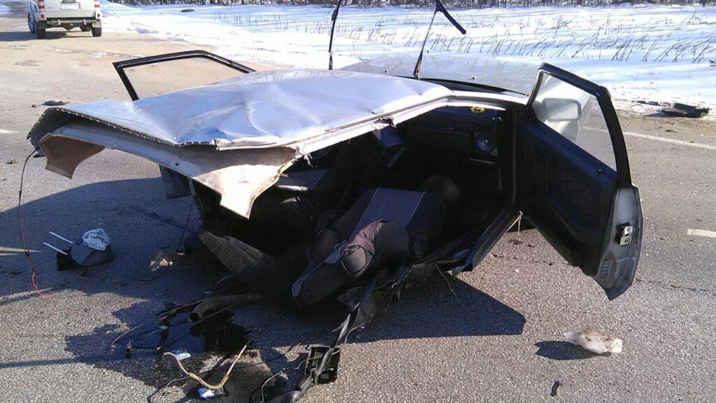 ДТП под Тамбовом - машины всмятку, двое в больнице