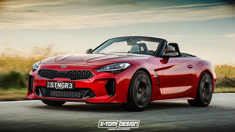 Дизайнеры совместили BMW Z4 и Kia Stinger