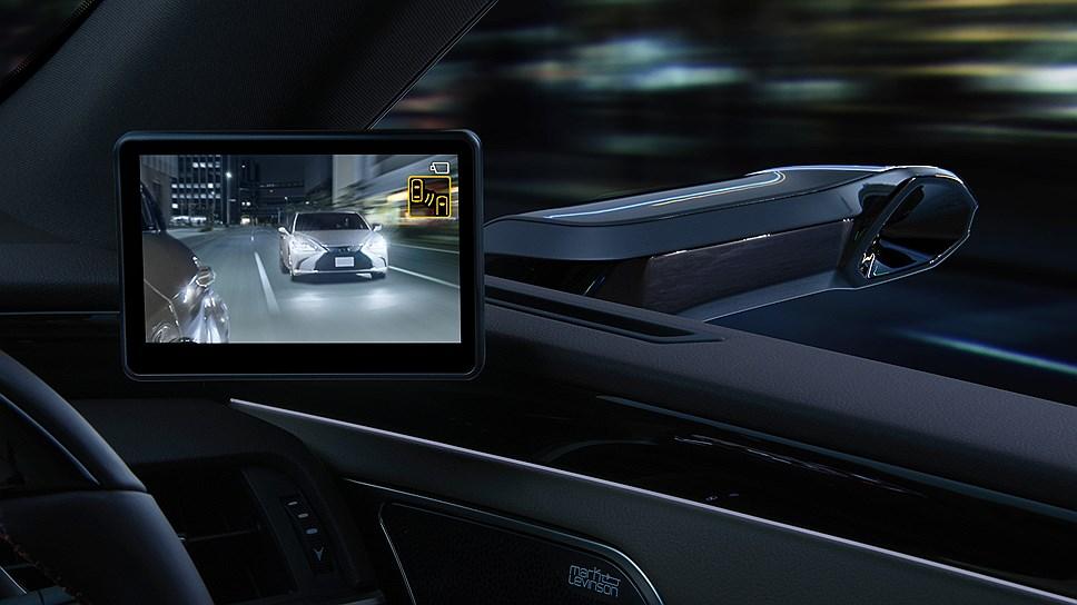 Новый седан Lexus ES оснастят камерами вместо боковых зеркал