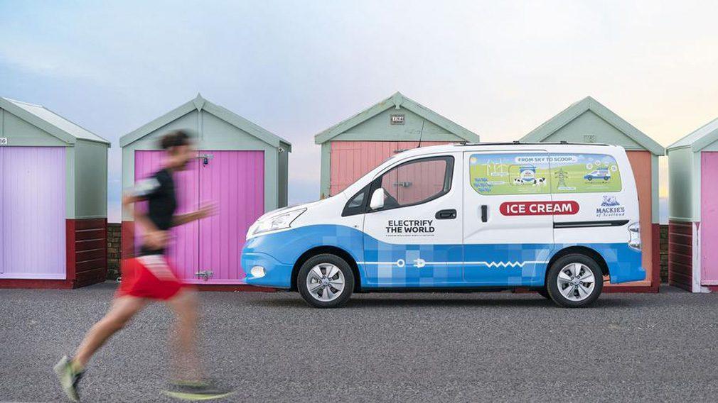 Nissan выпустил электрический фургон для мороженого