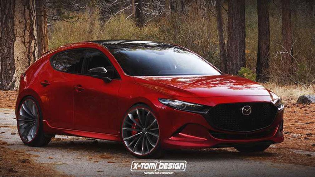 «Заряженную» Mazda 3 представили на рендерном изображении