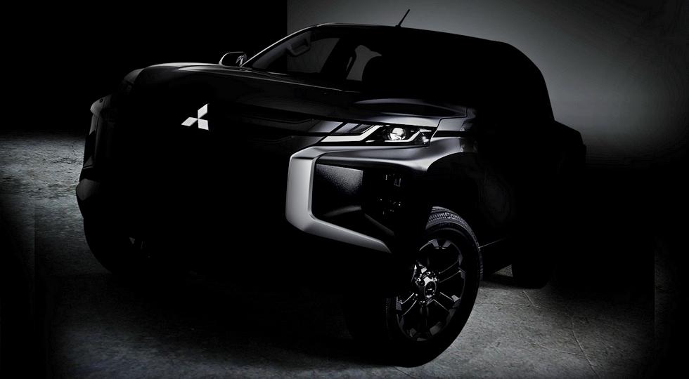 Mitsubishi представила первый тизер пикапа L200 нового поколения
