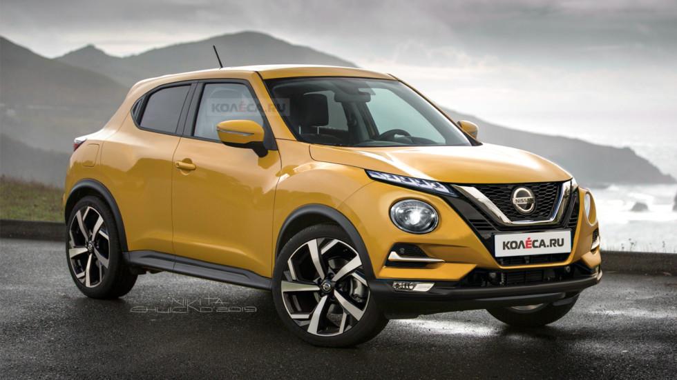 Новый Nissan Juke 2020 модельного года показали на рендерах