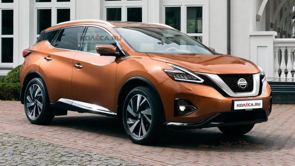 В Сети появились первые рендеры обновленного кроссовера Nissan Murano