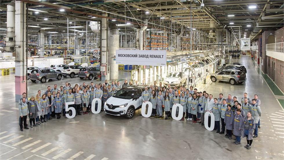 В Москве выпустили 50-тысячный кроссовер Renault Kaptur