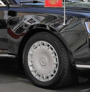 Президентский лимузин Aurus «Кортеж» получил грузовые шины КАМА