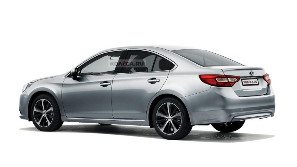 В Сети появились первые изображения нового седана Subaru Legacy