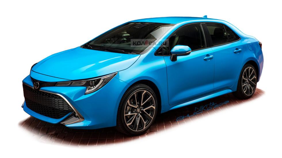 В Сети опубликованы первые рендеры нового седана Toyota Corolla