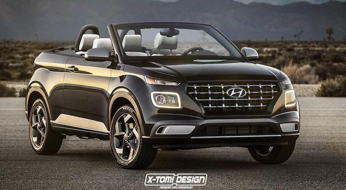 Новый кроссовер Hyundai Venue представили в кузове кабриолет