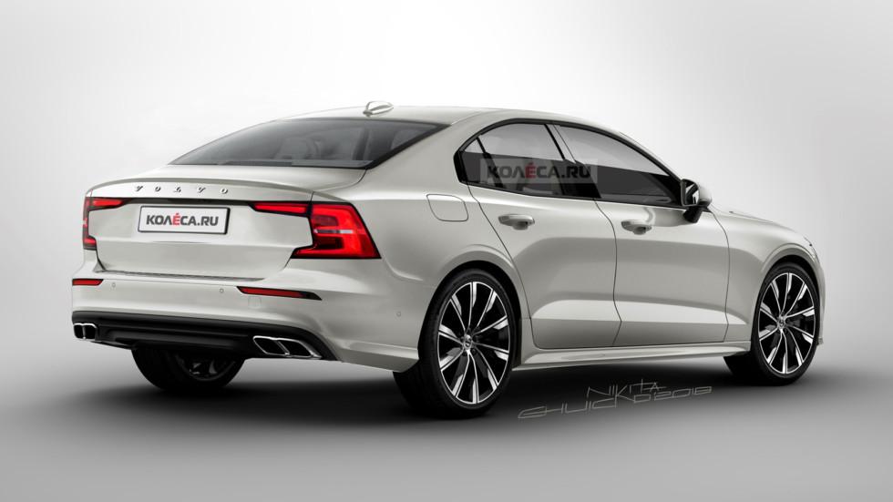Дизайнеры рассекретили внешность нового седана Volvo S60