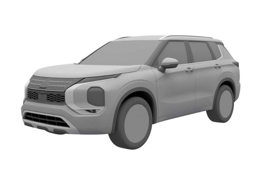 Mitsubishi получила патент на дизайн нового Outlander в России