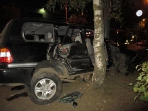 Ярославль: «Тойота Ленд Крузер» влетел в березу, пострадали три человека