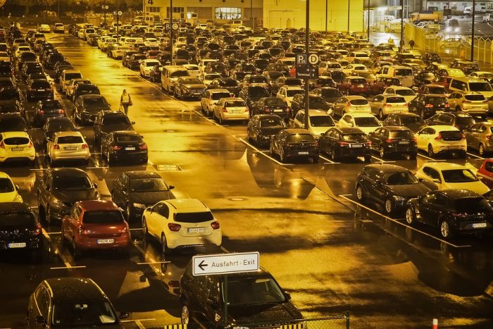 Парковка возле аэропорта Домодедово «Улетная парковка»