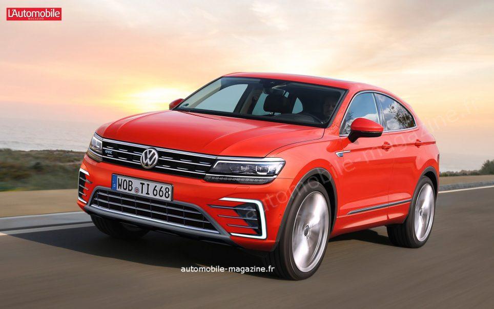 Volkswagen Tiguan в 2019 году получит купеобразную версию Coupe