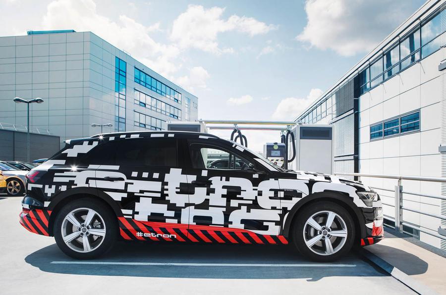 Электрокроссовер Audi e-tron будет заряжаться быстрее Tesla