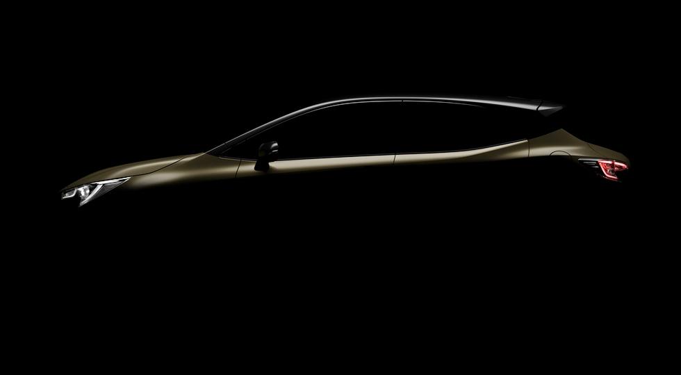 Toyota опубликовала первый тизер нового хэтчбека Toyota Auris