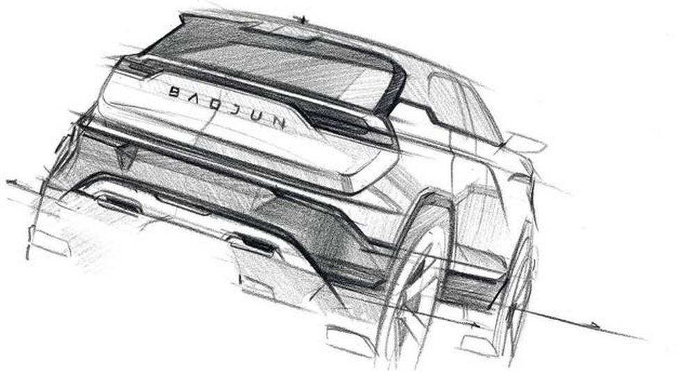 GM и SAIC показали первые эскизы нового кроссовера Baojun