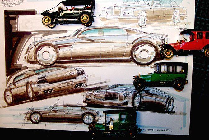 Эскизы автомобиля «Руссо-Балт» для президента показали в Сети