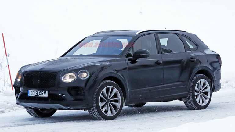 Bentley вывел на тесты рестайлинговый кроссовер Bentley Bentayga