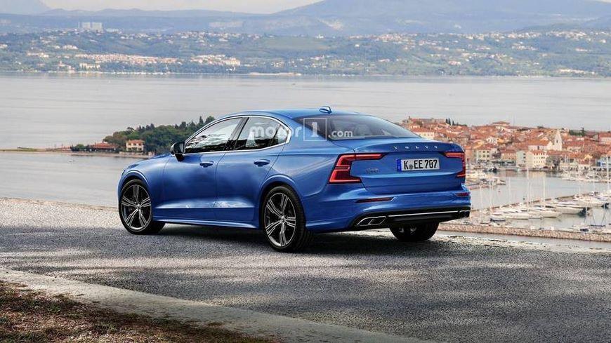 Всети появились первые фото нового седана Volvo S60 class=