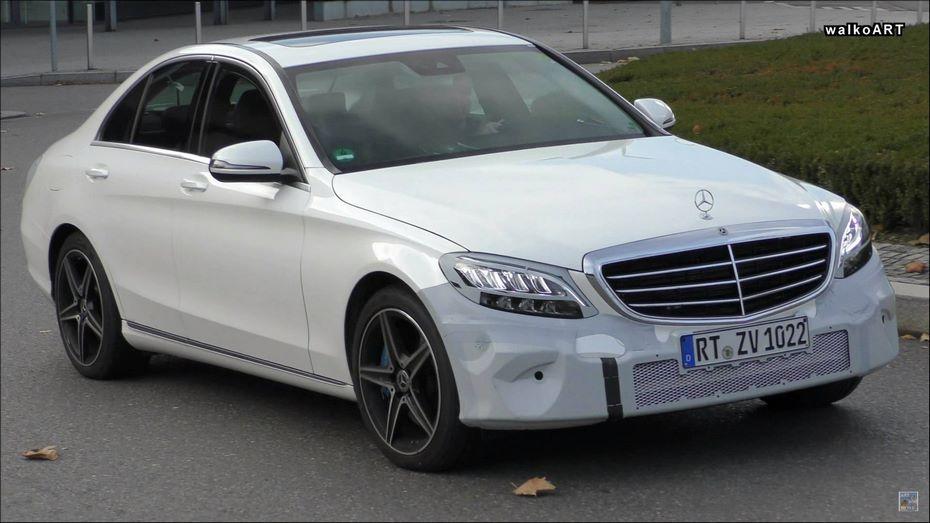 На тестах замечен новый Mercedes-Benz C-Class с гибридным мотором