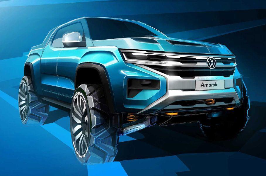 Volkswagen представил фото-тизер пикапа Amarok нового поколения