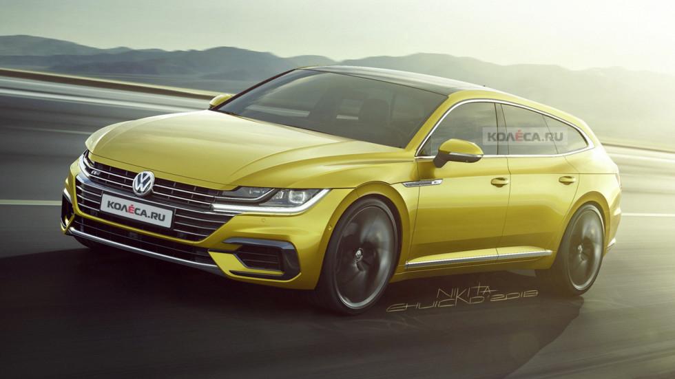 Опубликованы первые изображения нового универсала Volkswagen Arteon