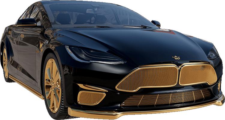 Российская Caviar представила Tesla Model S с позолотой за 22,3 миллиона рублей