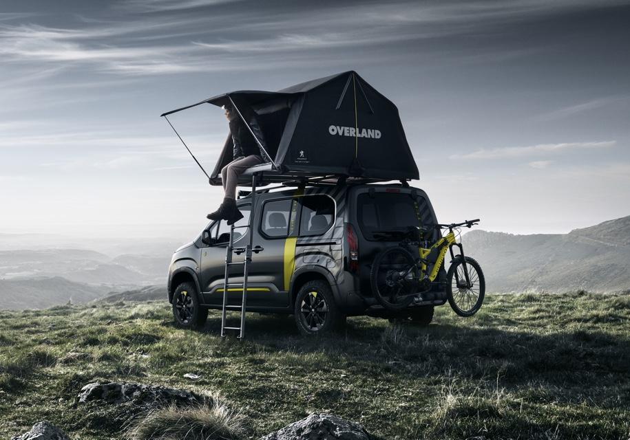 Peugeot в Женеве представит внедорожник Rifter 4x4 с палаткой на крыше