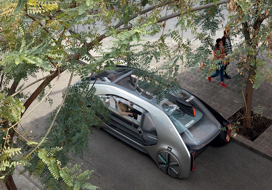 Рено запустит автономное такси будущего в 2030г году