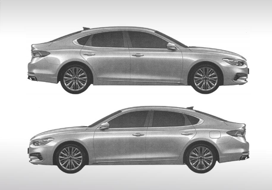 Hyundai запатентовала новый большой седан Grandeur для России