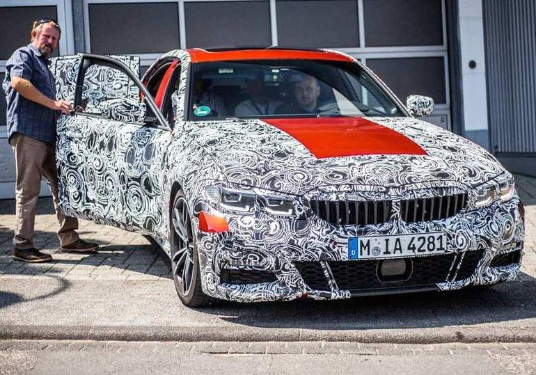 Новый седан BMW 3-Series уже заметили на тестах