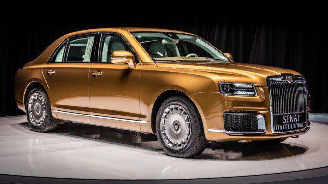 На автошоу Женеве показали российские автомобили Aurus