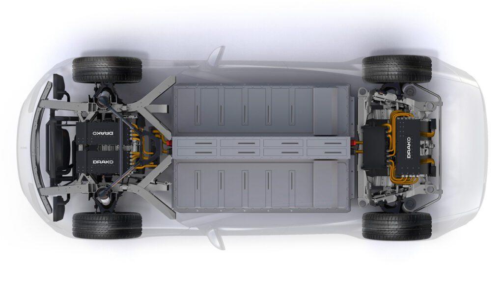 Представили 1200-сильный электрический суперкар Draco GTE